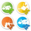 Royalty-Free Stock Vector Image: Natural Colorful Eco Stickers