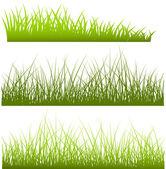 Green Grass Shapes — Stock Vector