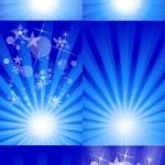 Stylish Decorative Sparkle Background Set — Stock Vector