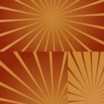 Isolated Retro Sunburst Designs — Stock Vector #6681499