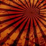 Grunge Wall Texture Retro Sunburst Background — Stock Vector