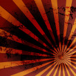 Funky Style Of Grunge Texture Sunburst Background — Stock Vector