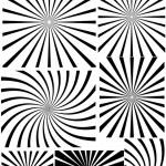 Set Of Stylish Decor Design Sunburst Background — Stock Vector #6681772