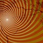 Spiral Style Sunburst Design — Stock Vector