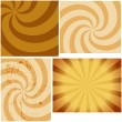 Art Of Vintage Organic Sunburst Background - Stock Vector