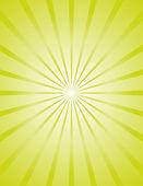 Parlak yeşil sunburst arka plan — Stok Vektör