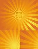 Dekor rot sunburst hintergrundfarbe festlegen — Stockvektor