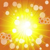 Circoli retrò su sfondo luminoso sunburst — Vettoriale Stock