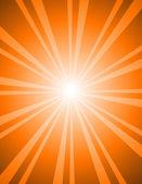 Disegno antico rosso sunburst — Vettoriale Stock