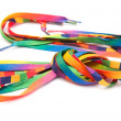 Rainbow shoelaces — Stock Photo