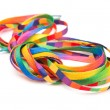 Stock Photo: Rainbow shoelaces