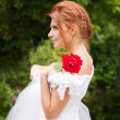 Red-haired Bride — Stock Photo