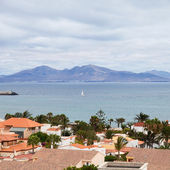 Canary Islands, Lanzarote and small Isla de Lobos as seen from C — Stock Photo