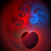 Spiraling hearts fractal — Stock Photo