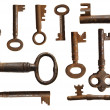 Old keys collection (10 species) — Stock Photo #6601583