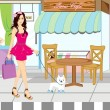 Shopping girl — Stock Vector #6207209