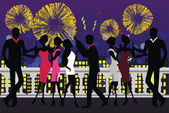 New Year Party Celebration — Stock Vector
