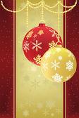 Рождественский фон безделушек — Cтоковый вектор