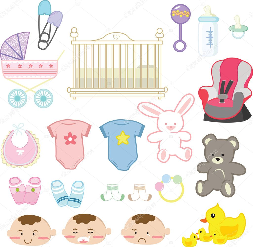 Baby items — Stock Vector © artisticco 6207214