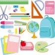 Stock Vector: School supplies