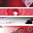 Valentine banners — Stock Vector #6490472