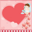 Stock Vector: Valentine card background