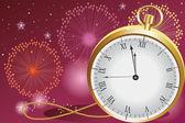 Новогоднее празднование — Cтоковый вектор