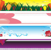 Spring season banner — Vector de stock