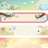 Spring season banner — Stock Vector
