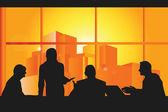 Business meeting — Stock Vector