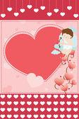 Valentine card background — Stock Vector