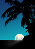 Blue Moon Rise — Stock Photo