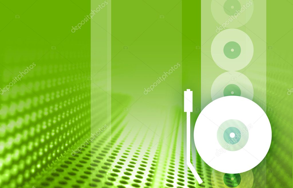 An Abstract digital image of a turntable  Stock Photo #5484067