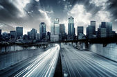 Futuristiska stadsbild — Stockfoto