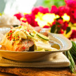 Thai food - Red snapper with garlic, chili, lemon grass and lemo — Foto Stock