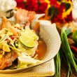 Stock Photo: Thai food - Red snapper with garlic, chili, lemon grass and lemo