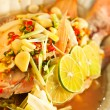 Thai food - Red snapper with garlic, chili, lemon grass and lemo — Stock Photo