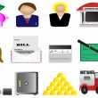Royalty-Free Stock Vectorielle: Finance and banking icons set