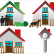 Real estate houses - Stock Vector