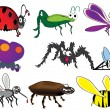 Bugs and beetles — Stock Vector