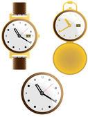 Zbiór różnych zegarki — Wektor stockowy