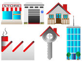 Real estate houses — Stock Vector