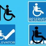 Handicap blue signs set — Stock Vector #6432759