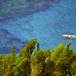 Paleokastritsa gulf on Corfu island, Greece — Stock Photo