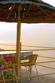 Beautiful greek tavern sunset landscape — Foto de Stock