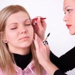 Makeup artist at work — Stock Photo #5398077