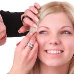 Makeup artist at work — Stock Photo #5486663