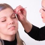 Makeup artist at work — Stock Photo #5496334