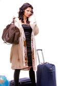 Tourist girl — Stock Photo