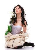 布鲁内特的新娘 — 图库照片